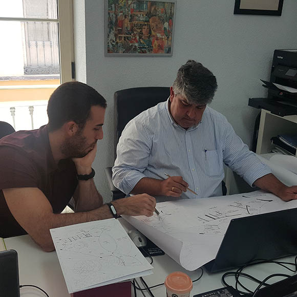 trabajadores estudio de arquitectura