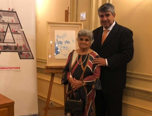 Leonor Mármol homenajeada por el Colegio de Arquitectos tras más de 65 años dedicada a la profesión